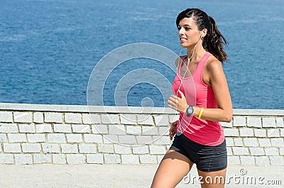Sport woman running