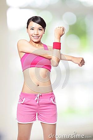 Sport woman warm up