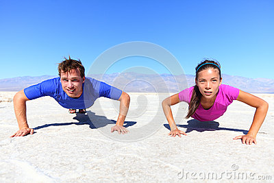 Sport - young fitness couple