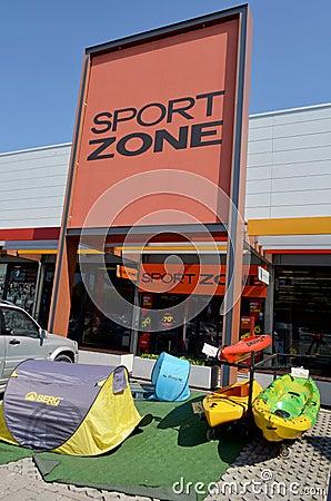 Sport Zone Editorial Stock Photo