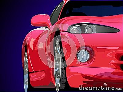Sporta samochodowy czerwony wektor