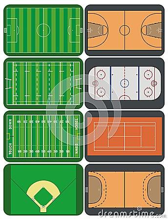 Sportfelder und -gerichte
