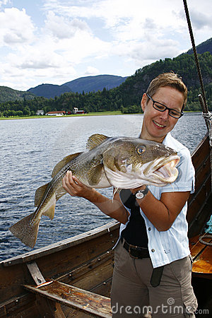 Sportfisher with big cod