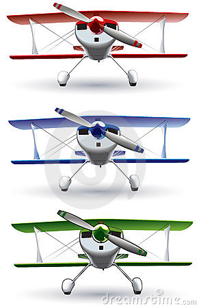Sporting biplane front