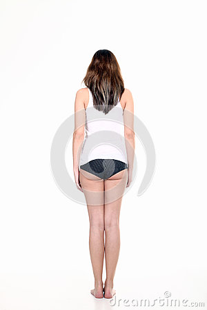 Sportive woman from behind Stock Photo