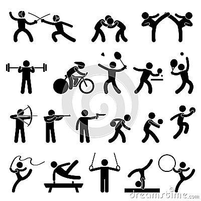 Sportowej gry ikony salowy sport