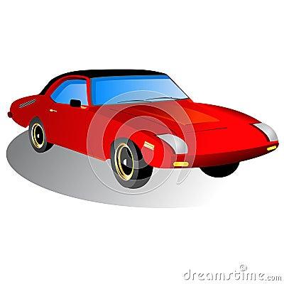 Sportowy samochód ikona