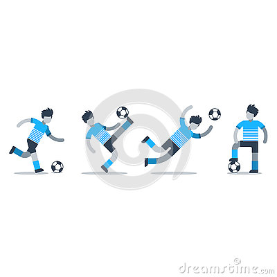 Free Sports Activity, Soccer Team Set Of Players Stock Photo - 80463970
