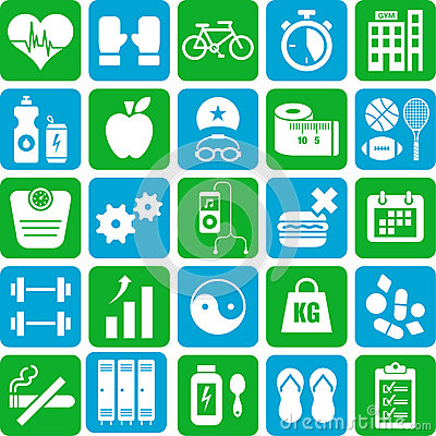 Free Sports And Health Icons Stock Images - 29521184