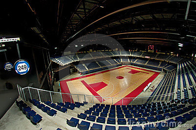 Sports arena view