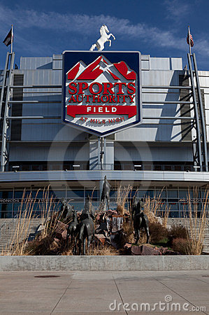 Sports Authority Field in Denver Editorial Stock Photo