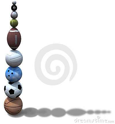 Free Sports Ball Stack Background Royalty Free Stock Photos - 3328838