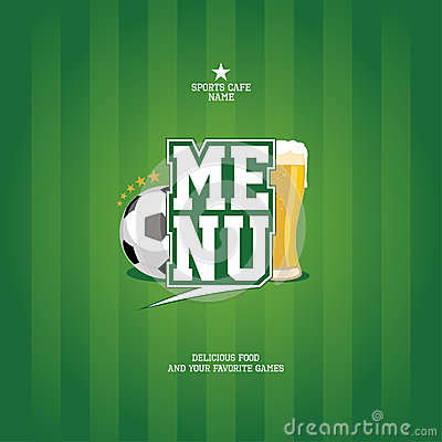 Sports Bar Menu Card Template. Stock Photography - Image: 25176792