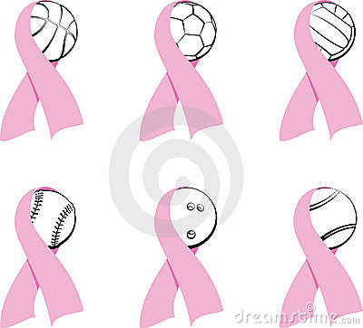 Sports Breast Cancer Icons   Stock Images - Image: 20941504