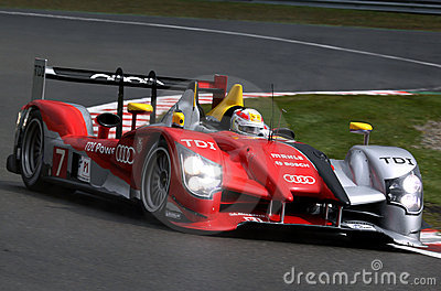 Sports car,Audi R15 TDI(LMS) Editorial Stock Photo