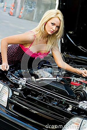 Sports Car Blonde