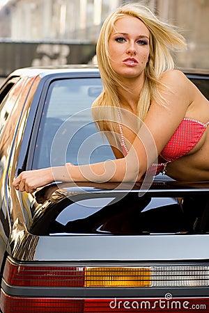 Free Sports Car Blonde Stock Photo - 3849990