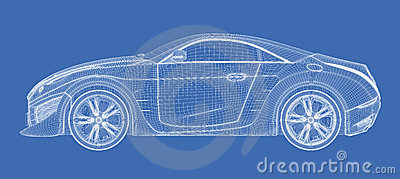 Sports car blueprint