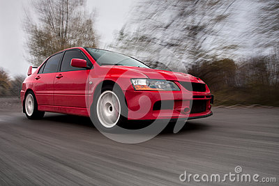 Sports Car, Blurred Motion
