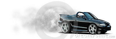 Sports Car Burnout - Mustang