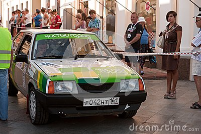 Sports car compete Prime Yalta Rally Editorial Photo