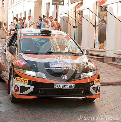 Sports car compete Prime Yalta Rally Editorial Stock Image