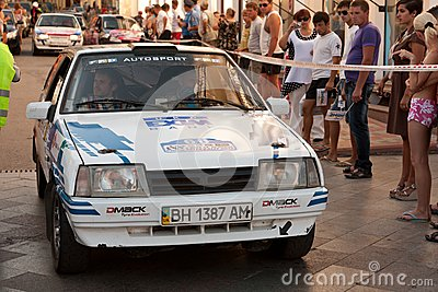 Sports car compete Prime Yalta Rally Editorial Photography
