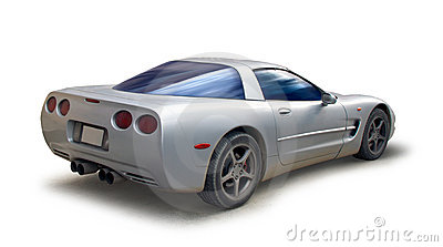 Sports car corvette