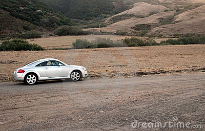 Sports Car on Dirt Road