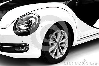 Sports car headlight and wheel