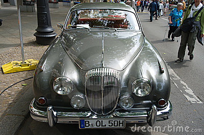 Sports Car Jaguar XK 140 DHC Editorial Stock Image