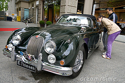 Sports Car Jaguar XK 140 DHC Editorial Photo