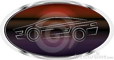 Sports car label logo