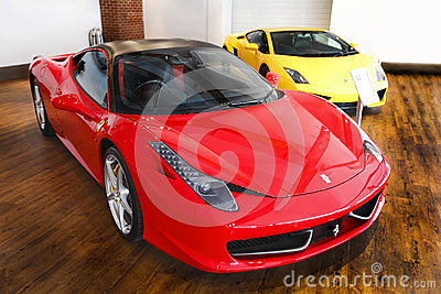 Sports car showroom Ferrari Editorial Image