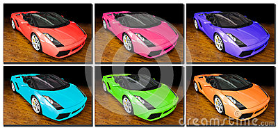 Sports cars pop art