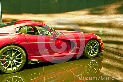 Sports cars -Red  Dodge Viper SRT 2013