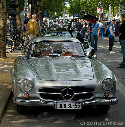Sports coupe Mercedes-Benz W198 (300SL) Editorial Photo