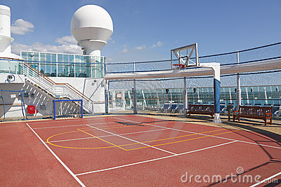 Sports court on cruise ship