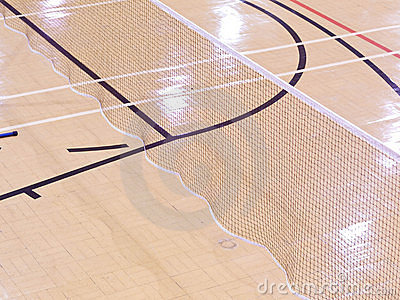Sports court with markings