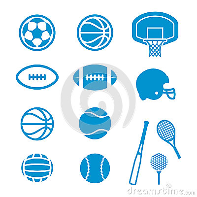 Free Sports Equipment And Balls Icons Royalty Free Stock Photos - 30784258