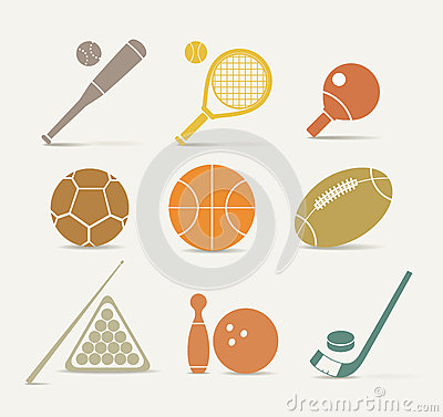 Free Sports Equipment Icons Stock Image - 27115271