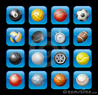 Free Sports Equipment Icons Stock Photography - 9685422