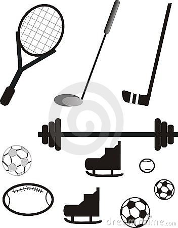 Sports equipment pictogram