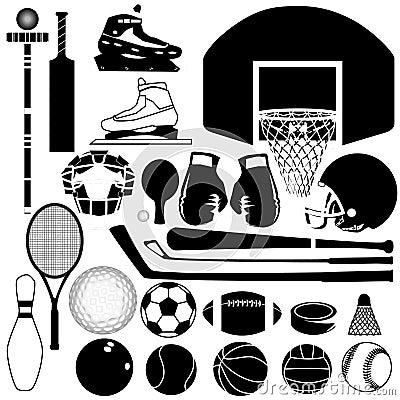 Sports equipment variety