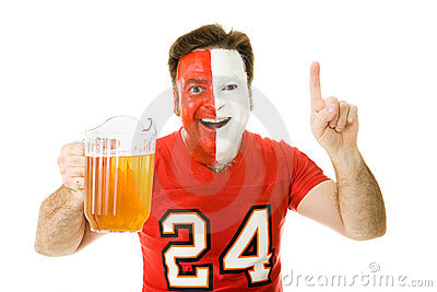 Sports Fan with Beer