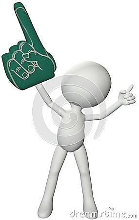 Free Sports Fan Number 1 Foam Finger One Royalty Free Stock Image - 15228376