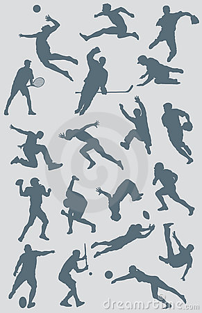 Free Sports Figure Vector Collection 2 Stock Images - 5470714