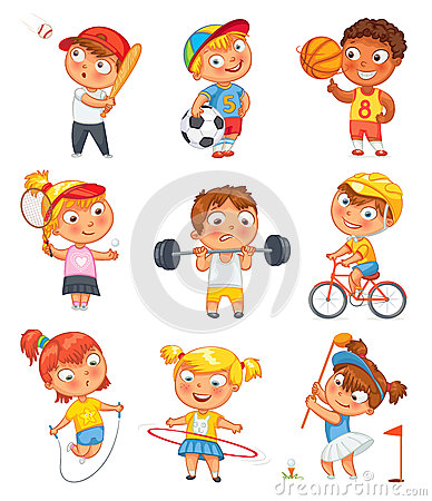 physical activity seniors vector illustration cartoondealercom