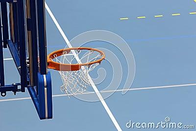 Sports hall basketball blue court