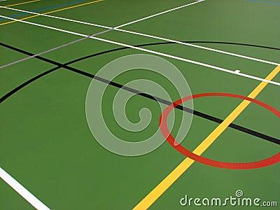 Sports hall floor markings
